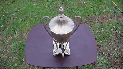 Vintage Antique Silver Plated Hot Coffee Tea Water Dispenser Urn