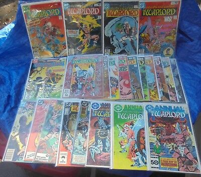 DC Comics Enter The Lost World Of The Warlord 27 Issue Lot # 8 - 131 Morgan
