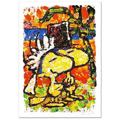 Tom Everhart 'HITCHED' Signed Lithograph Peanuts SNOOPY Woodstock