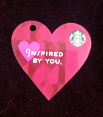 Starbucks Red Heart Gift Card No Value Inspired By You 2013