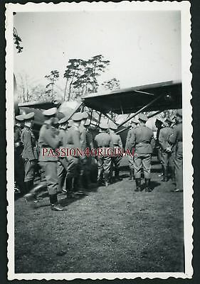 Photo Ww2 Aviation Reconnaissance Fieseler Storch Soldats Officers? Wehrmacht
