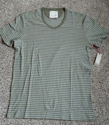 Nwt Banana Republic Heritage Collection Short Sleeve T Green White Stripe Mens L