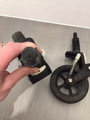 Pair Of Genuine BUGABOO Cameleon 1 2 FRONT WHEELS swivel suspension