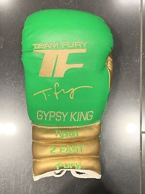 Exclusive Tyson Fury Gypsy King Signed Boxing Glove