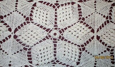 Antique Hand Crocheted Lace Bed Coverlet Bed & Breakfast $$$Reduced
