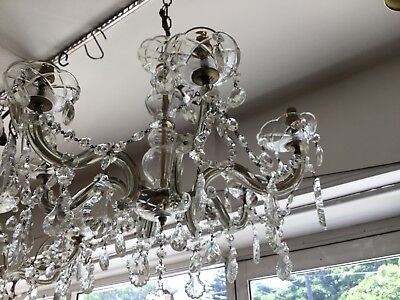 VINTAGE CHANDELIER HALLWAY BEDROOM ROOM 6 LIGHT FRENCH CRYSTAL ITALIAN No.105