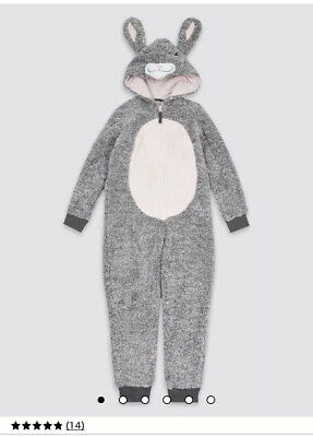 M&S  girls Bunny Hooded onse Size 7-8years REP £26