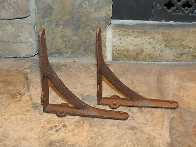 "Set of 2 Medium Simple Arch Cast Iron Shelf Brackets, Brace, Measures  6"" x 6"""