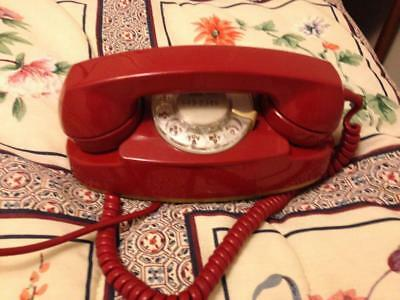 Original Western Electric Bell System Princess Rotary Telephone #702B Red 1971