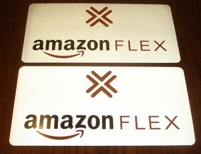 "(1 Pair) AMAZON FLEX  Magnetic REFLECTIVE Car Vehicle SIGNS   6"" x 12"" FREE SHIP"