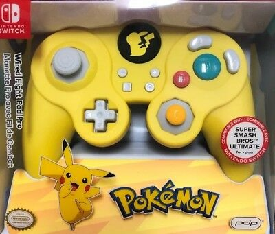 Nintendo Switch Wired Fight Pad Pro PDP Pokemon Pikachu Controller New Sealed
