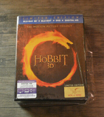 The Hobbit Trilogy: Numbered Limited Edition Blu-ray 3D Boxed Set - Never Viewed