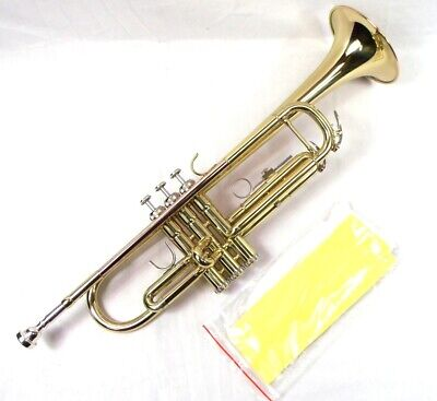 Advanced Monel Pistons Bb Trumpet Gold Lacquer Finish with Mouthpiece & Case