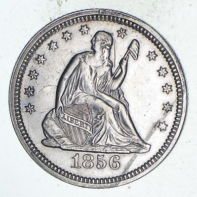 1856 Seated Liberty Silver Quarter - Choice *9561