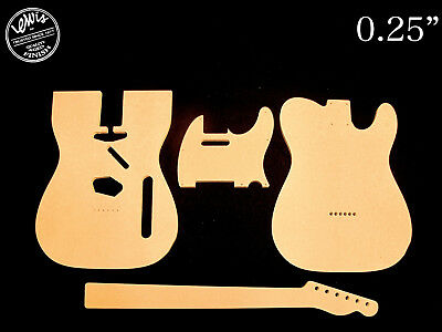 guitar templates telecaster tele 0 25 thick 2 template set