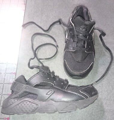 8e2ca7e1ac22e NIKE HUARACHE RUN GS shoe Kids Youth Size 11C 704949-018 black ...