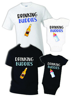e8b5f6fe drinking Buddies father daughter matching shirts father and son gift daddy  baby
