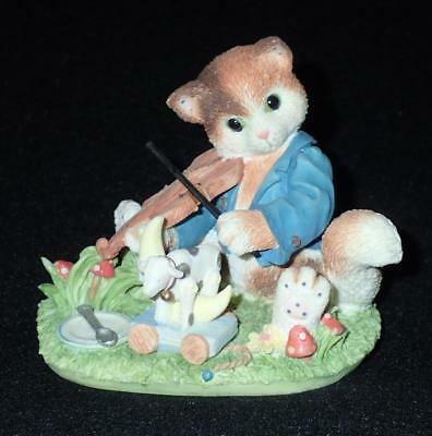 Enesco Calico Kittens 1995 Hey Diddle Diddle Limited Edition Figurine #166456