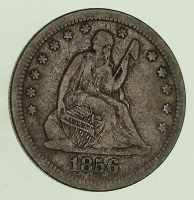1856 Seated Liberty Silver Quarter - Circulated *8737
