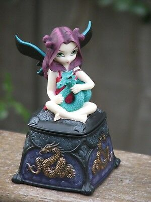 Strangeling Fairies ~ Pets Storm Dragon, Trinket Box - Jasmine Becket-Griffith
