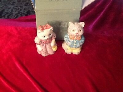 Collectible Avon 1992 Country Purr-Fection Cat Salt & Pepper Shakers