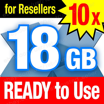 10x Dropbox Cloud Storage 18 GB **BRAND NEW** accounts - PERMANENT and Lifetime!