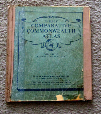 Philips' Comparative Commonwealth  Atlas Published 1955
