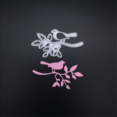 1pc tree bird metal cutting dies stencil scrapbook album paper embossing craft-#