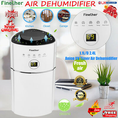 2.4L Digital Dehumidifier Air Purify Dry Moisture Damp Drying Home Living Room