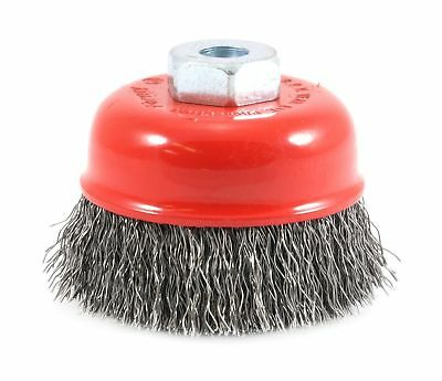 Forney 72780 Wire Cup Brush, Crimped with M10-by-1.25 Arbor,