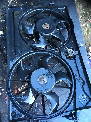 Radiator Twin Cooling Fans From ST170 Ford Focus MK1