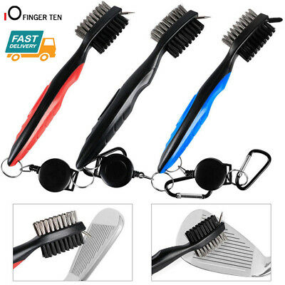 Golf Club Cleaning Brush & Groove Cleaner With Retractable Reel 3 Color AU Stock