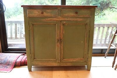 ANTIQUE FRENCH PINE BUFFET SIDEBOARD CUPBOARD c1900
