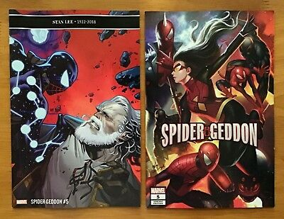 Spider-Geddon 5 Molina Main + In-Hyuk Lee Connecting Cover Marvel 2018 NM+