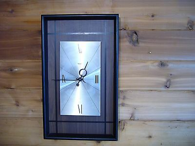 VTG Verichron Mid Century Modern Floating Wall Clock 60's abstract