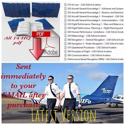 Instant Delivery :14 ATPL Books CAE Oxford Aviation - LATEST VERSION EASA - PBN
