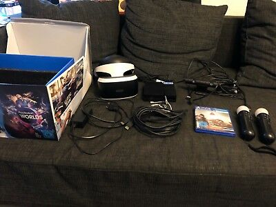 PS4 Sony PlayStation VR Brille + Camera + Headset + Move Controller + Spiel