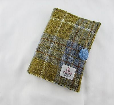 Harris Tweed Covered Small Notebook - Re-usable A6 Notebook Cover
