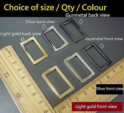 Metal Zinc Alloy Belt/Bag Buckle Rectangle Ring Loops for 25mm strapping/Webbing