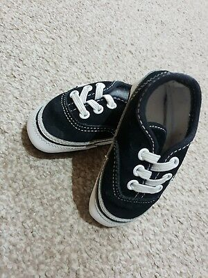 Gorgeous Black Baby Infant Vans 1.5 Stylish Trendy Boys