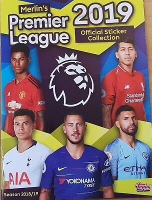 Merlin Topps 2019 Premier League Sticker Collection numbers 213-310