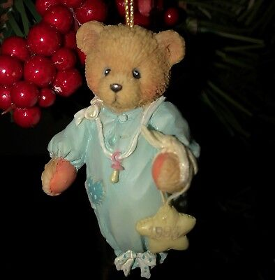 Cherished Teddies Ornament. Baby Boy 1st Christmas Dated 1993 Item #913014