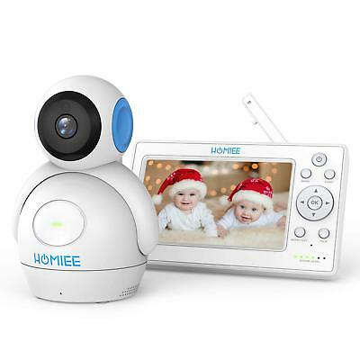 "HOMIEE 720P Wireless Video Baby Monitor with 5"" HD LCD Digital Screen & Robot."