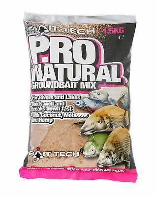 BAIT TECH PRO NATURAL GROUNDBAIT 1.5kg For Carp Fishing