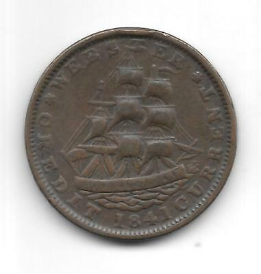 Webster's 1841 Hard Times Token Token Great Condition Ht16 Plain Edge