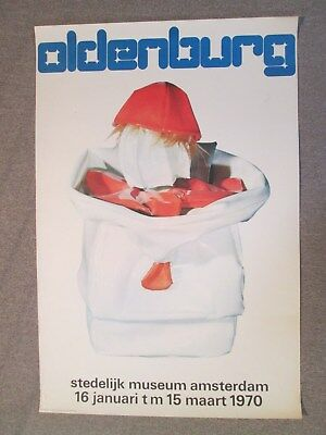 Claes Oldenburg Affiche Amsterdam 1970 Design Wim Crouwels