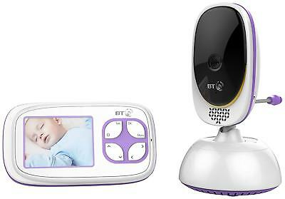 "BT Video Baby Monitor 5000 2.8"" Display up to 250m Range with 5 Lullabies White"