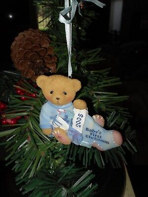 Cherished Teddies ornament Beary 1st Christmas dated 2005 (boy)