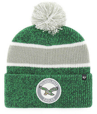 88beda2a0fd24 Philadelphia Eagles Nfl Noreaster Winter  47 Knit Cuff Pom Beanie Cap Hat  New