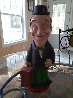 """Laurel Of Laurel And Hardy Piggy Bank Collectible 1972 14"""""""